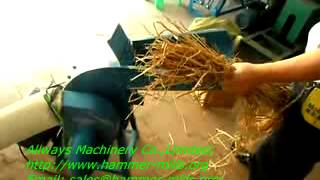 Mini feed grain straw grinder mill,feed fodder crusher,cereal hammer mill AWF21B