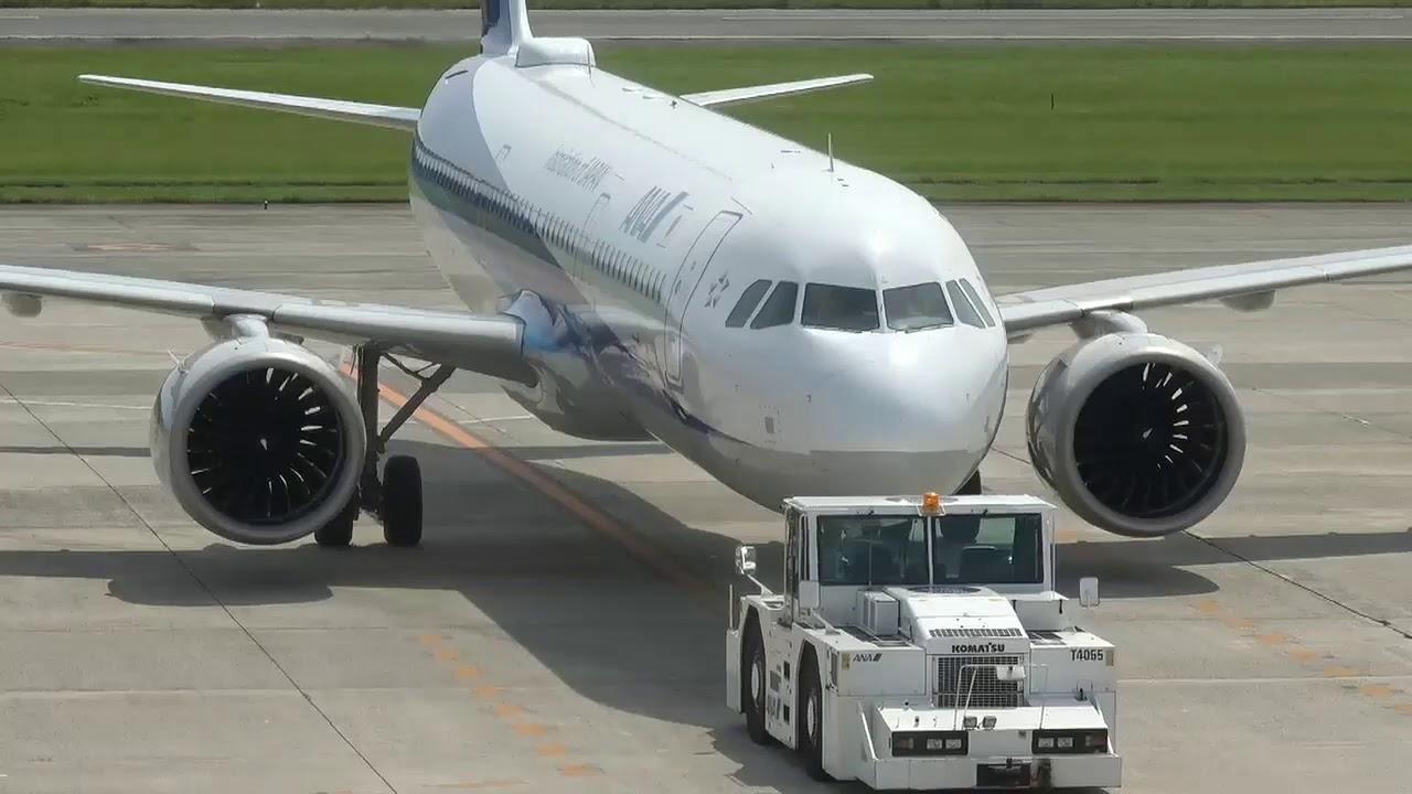 ANA A321neo JA140A 松山空港 到着から出発まで 20200802