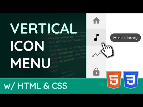 How To Create A Vertical Icon Navigation Menu - HTML & CSS Tutorial