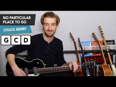 Chuck Berry No Particular Place To Go Guitar Lesson Tutorial - Lead Guitar + SOLO