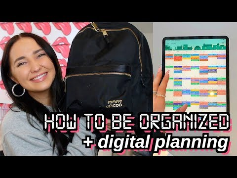 HOW TO STAY ORGANIZED | digital planning, whats in my backpack, productivity hacks