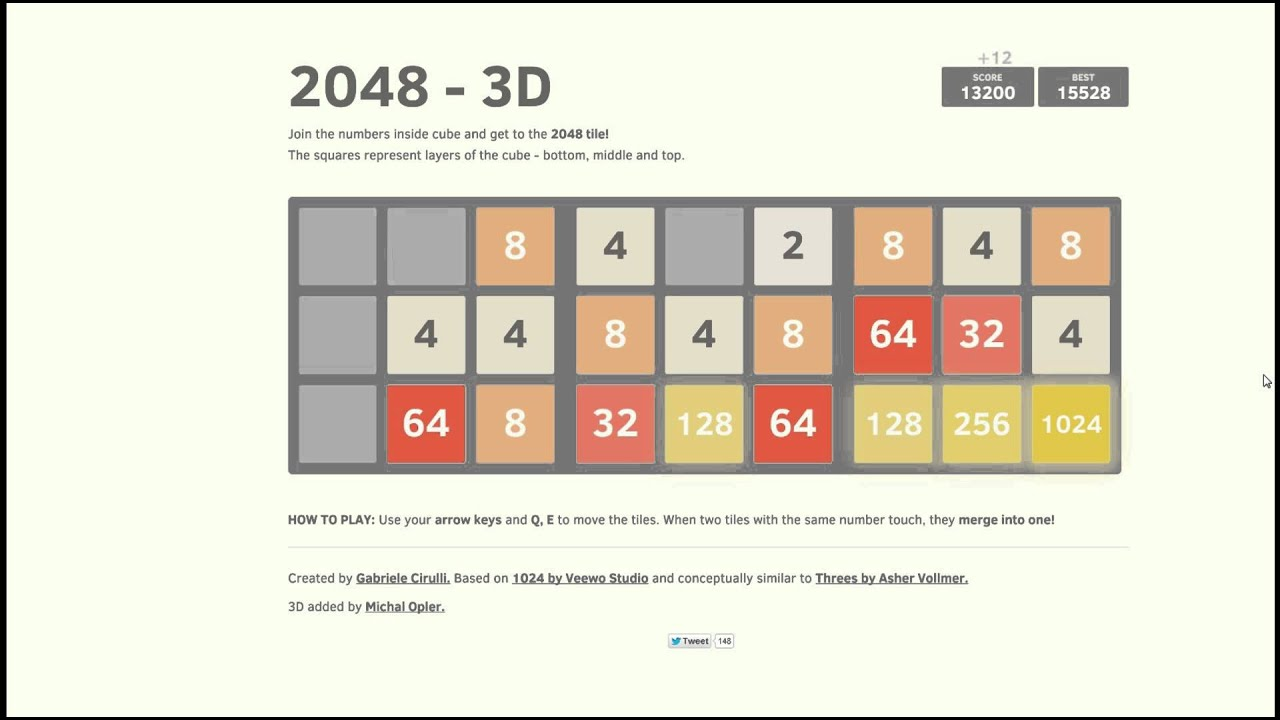2048 3D COMPLETED! - YouTube