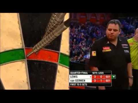 PDC World Darts Championships 2013 Quarter Finals van Gerwen VS Lewis