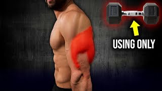 7min Home TRICEPS Workout For Muscle Mass (USING ONLY DUMBBELLS!!)