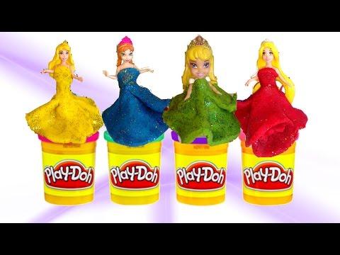 play-doh-ice-cream-/disney-princess-dolls-dress-up-in-glitter-sparkle-play-doh-/creative-play-kids