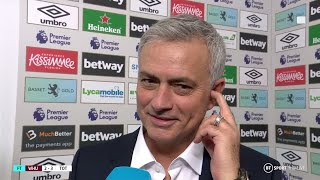 """I enjoyed our football!"" Jose Mourinho's first interview as a winning Spurs manager"