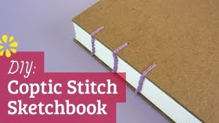 How to Make a Sketchbook | DIY Coptic Stitch Bookbinding Tutorial | Sea Lemon