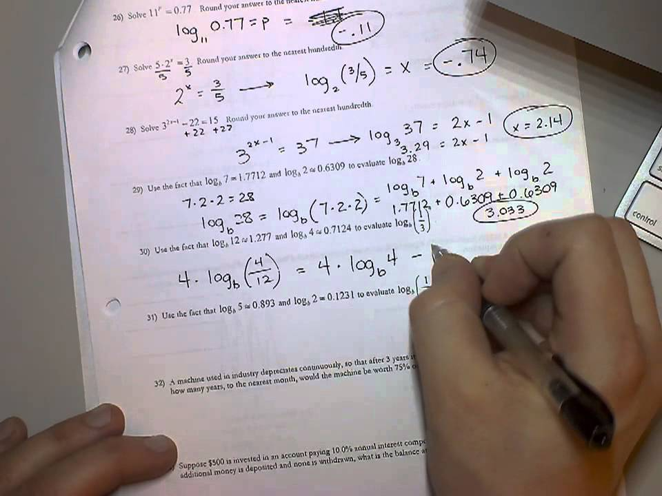 Algebra 2 Exam Review Chapter 6 - YouTube