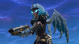 "NEW LEGENDARY SKIN ""VALKYRIE"" AND HANG-GLIDING ""FROSTWING""! (Fortnite Battle Royale)"