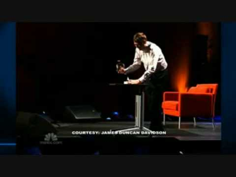 Bill Gates releases mosquitoes into audience