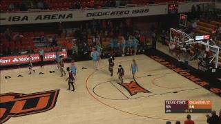 Oklahoma State Cowgirl Basketball Vs. Texas State