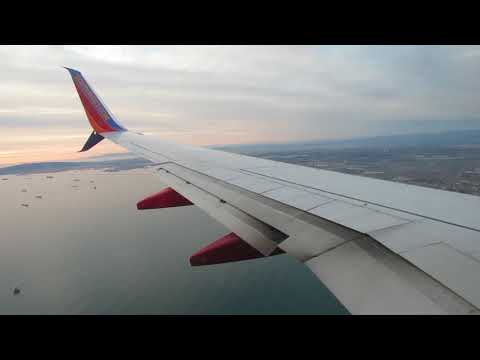 Southwest Airlines Sunset Landing In Long Beach, CA