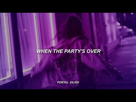 Billie Eilish - when the party's over (Lyrics) - YouTube