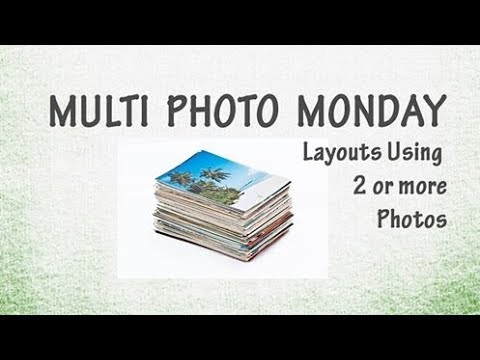 Multiple 3 Photos scrapbook boy Layout/ Scrapbooking Multi Photo  Process /Rosie's Studio