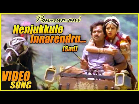 Nenjukulle Innarendru Sad Video Song | Ponnumani Tamil Movie | Karthik | Soundarya | Ilaiyaraaja