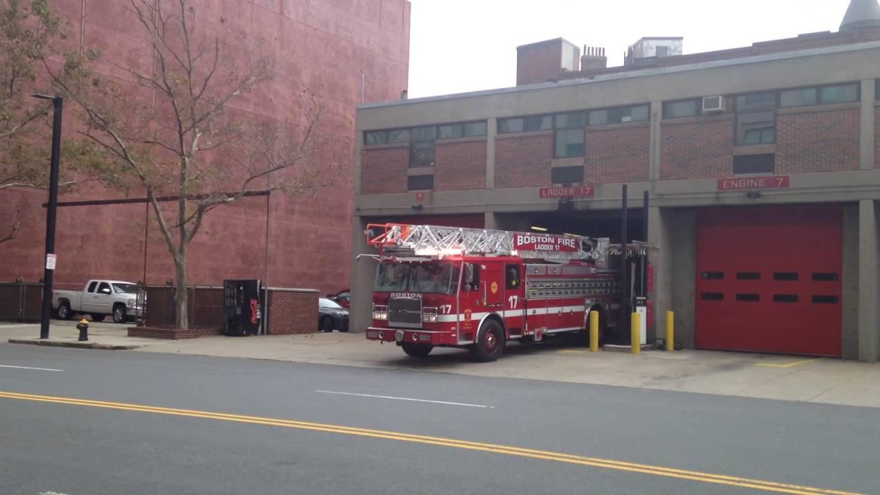 Boston Fire Ladder 23 Spare Responding - YouTube