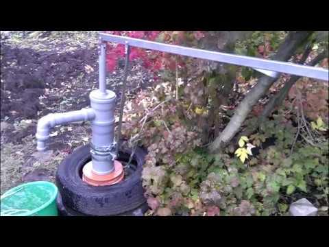 Насос из канализационных труб, насос в скважину, насос своими руками