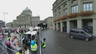Demo und Gegendemonstration Marsch fürs Läbe Bern