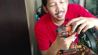 BLACK + DECKER Bor Cordless 18V Kayu Beton Besi (review Indonesia)