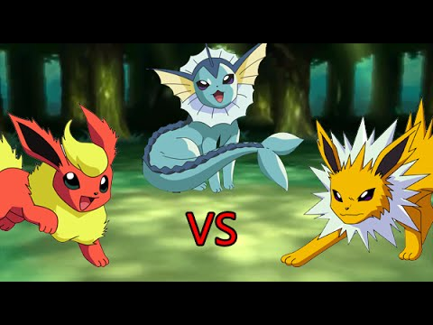flareon vs jolteon vs vaporeon spore youtube