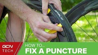How To Fix A Pun¢ture On A Road Bike | Repair A Roadside Flat Tyre