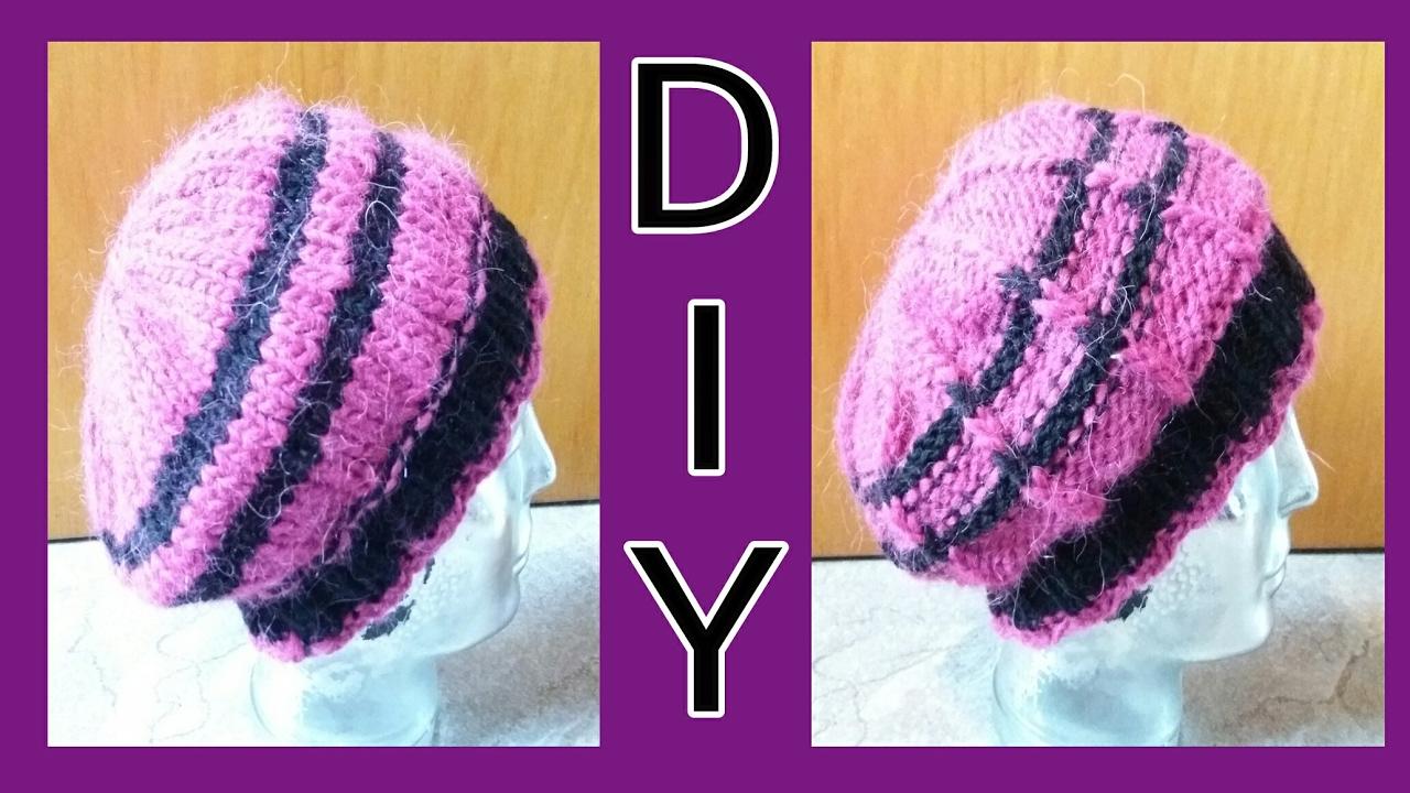 Mütze / Wendemütze stricken • DIY • Von beiden Seiten zu tragen ...