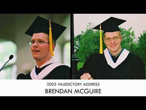 Brendan McGuire | Valedictory Address 2003