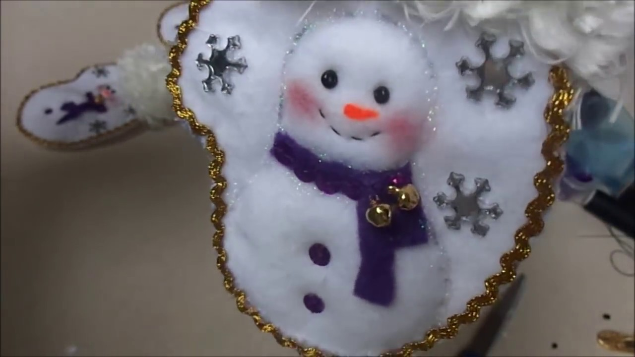 Manualidades para navidad porta cubierto de navidad youtube - Manualidades munecos de navidad ...