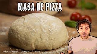 Masa De Pizza Italiana - Receta Casera Napolitana Para Pepperoni, Margherita
