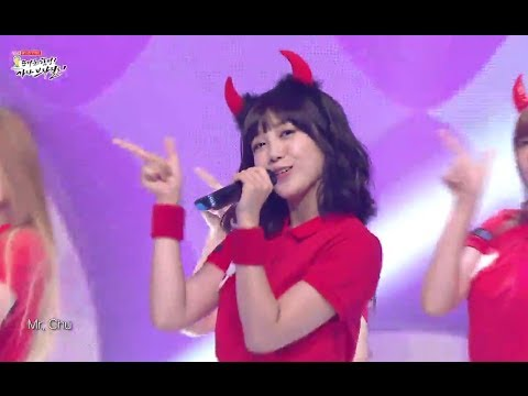 [HOT] A-PINK - Mr.chu, 에이핑크 - 미스터츄, 2014 World Cup Cheering Show 20140528
