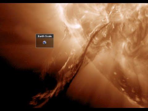 Huge Solar Eruptions in Progress - S0 News November 1, 2014 - 동영상