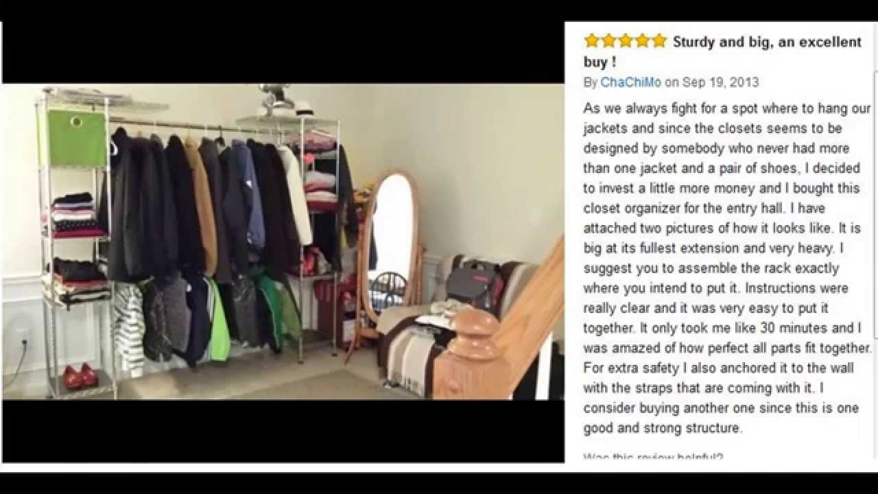 Nice Seville Classics Expandable Steel Wire Closet Organizer   YouTube