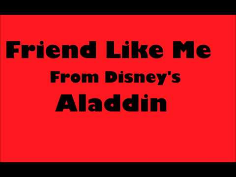 Friend Like Me from Disneys Aladdin