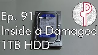 PTS Ep. 91 - Inside a Damaged 1TB Hard Drive (Scrap)
