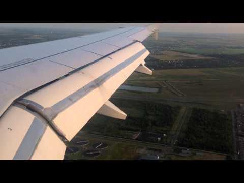 Beautiful landing in Saint-Petersburg on Airbus A319 runway 10L