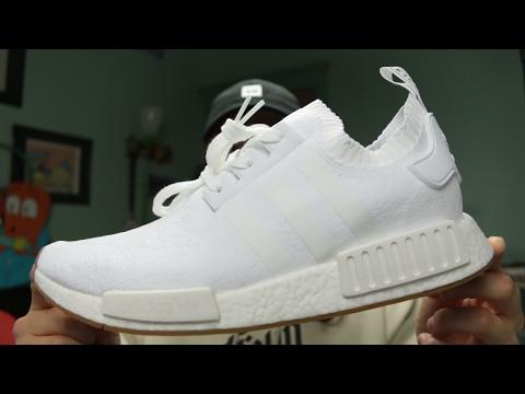 Adidas Nmd R1 White Gum Youtube