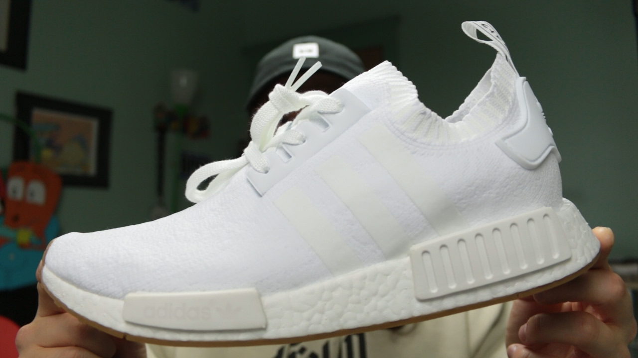 13a8bce90c134 Adidas NMD R1  White Gum  - YouTube