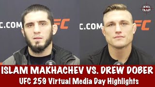UFC 259: <b>Islam Makhachev</b> & Drew Dober Media Day Highlights ...
