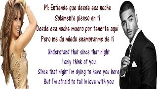 Thalía Ft Maluma - Desde Esa Noche S English And Spanish - Translation & Meaning - S