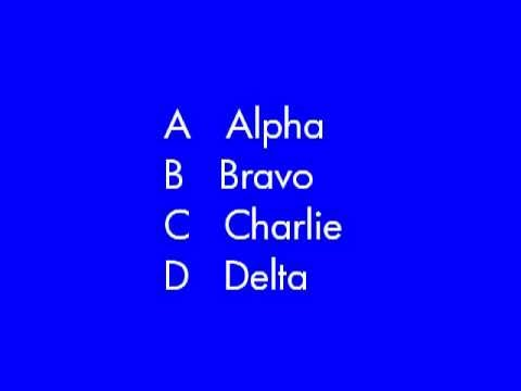 Military Phonetic Alphabet ~ Vietnam War to the Present