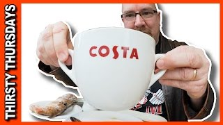 Costa Coffee & Chocolate Twist Pastry Review from Southampton, England