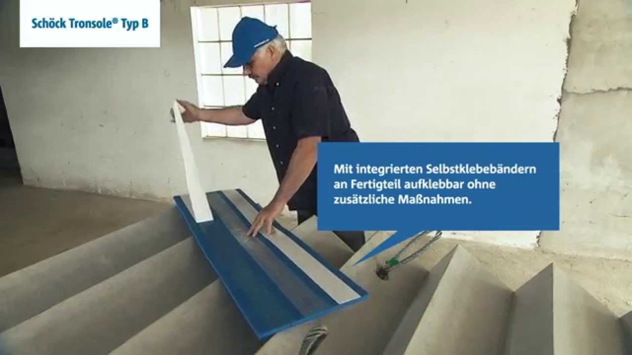 Dennert Treppen schallbrückenfreier einbau geraden fertigteil treppen schöck