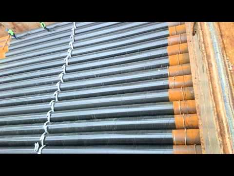 Steel Pipe Loading Operation