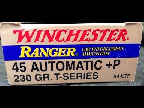 .45 ACP, 230gr +P JHP Winchester Ranger-T (RA45TP), Vs Pork Shoulder