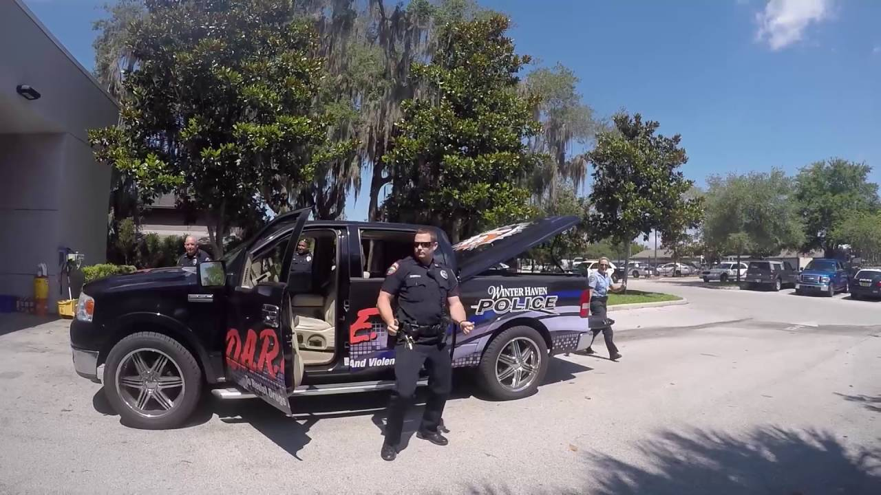 winter haven florida police department running man youtube