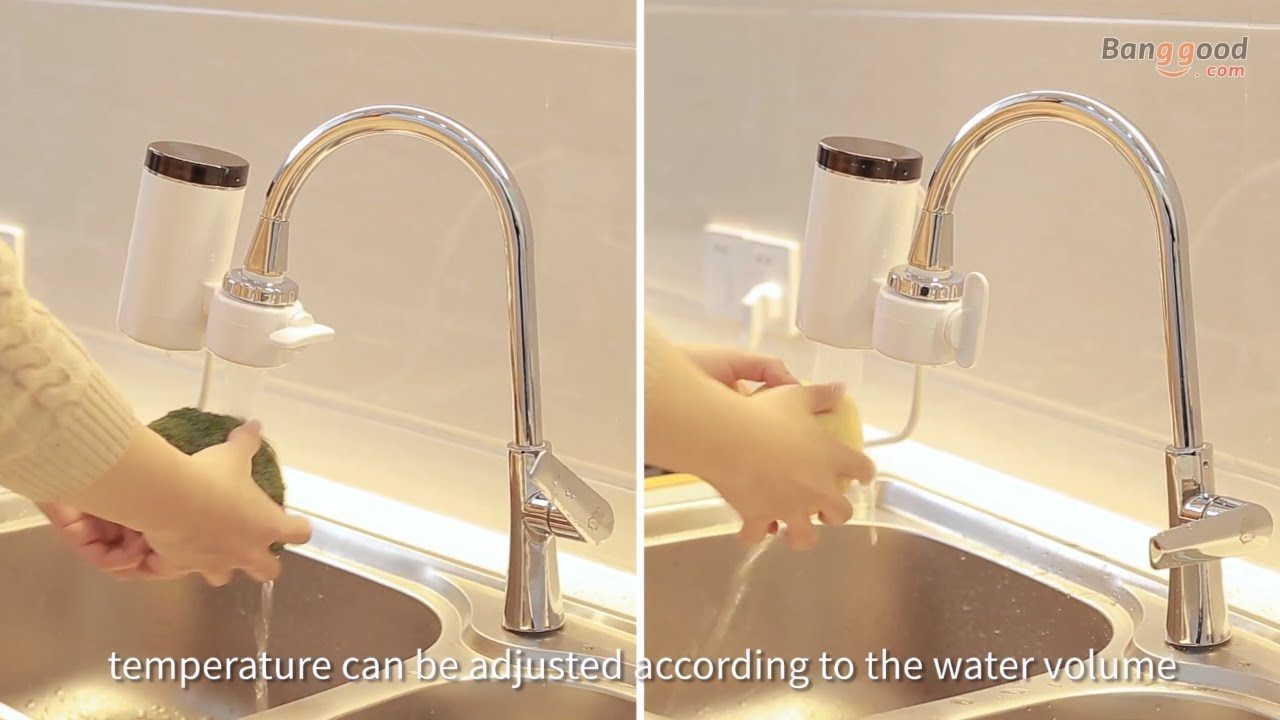 instant heat electric water faucet temperature display 3000w water heater free installation