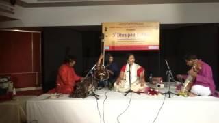 Repeat youtube video Dr. Madhu Bhatt Tailang's Dhrupad Vocal recital Raag Malgunji Part 1 Dhrupad Sabha New Delhi Aug 16