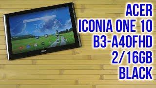 Розпакування Acer Iconia One 10 B3-A40FHD 2/16GB Black