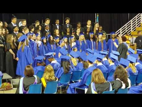 June 4th, 2017 Brandywine high school graduation choir singing