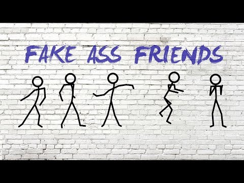 Dustin Atlas, Erin Bowman - Fake Ass Friends (Lyric Video)